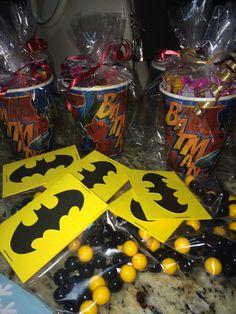 Batman Candy Cups & Candy Favors Sixlets