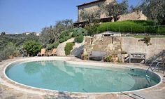 Tuscany Villa... Il Luppolo Nero is a three-story stone farmhouse, featuring three beautiful master bedroom suites, each with its own private terrazzo with spectacular views. photo credit- villas of distinction
