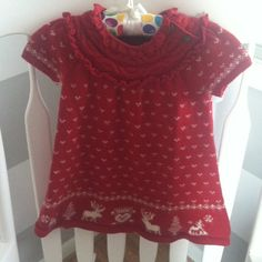 Ralph Lauren Girls Winter Sweater Dress- 18 months Adorable little girls winter red sweater dress! Must have!! Perfect for holidays/winter - excellent condition! ** matching sweater also available - can bundle as set Ralph Lauren Dresses