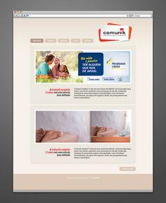 Webdesign do site da agência de publicidade Comunik, de Itajaí - SC (2011).  www.comunikpropaganda.com.br