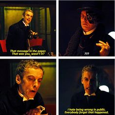 I already love Twelve to pieces! He's like a perfect mix of Christopher Eccleston, Collin Baker, Sylvester McCoy, and his own awesome self and it's just amazing!