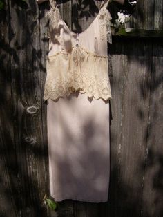 RESERVED FOR SHELLY  Upcycled Vintage Slip by thefishermanswife, $49.00