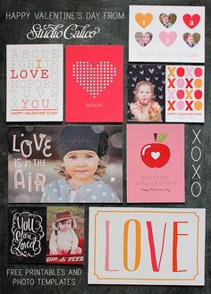 Happy Valentine's Day from Studio Calico Free Printables & Photo Templates