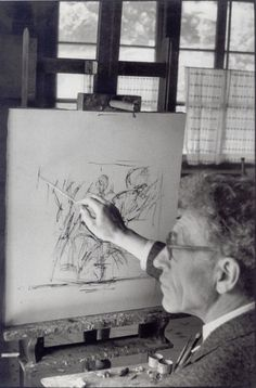 Alberto Giacometti, Stampa (Switzerland), 1961 -by Henri Cartier-Bresson