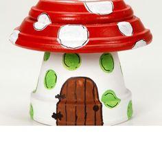 Mushroom clay pots