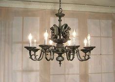 Gothic Style Black Silver Dual Gargoyle Chandelier Ceiling Light WOW Too Cool | eBay