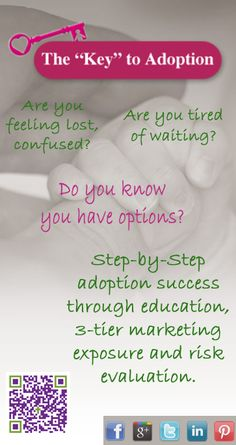 Questions?, get answers! Success to domestic adoption is education, support and resources to know that you have options! Adoption Consultants www.theadoptionkey.com/key-adoption-services/