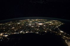 Eastern Two-Thirds of U.S. at Night (NASA, International Space Station, 01/29/12)