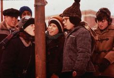 Schwartz: Hey, smart ass. I asked my old man about sticking your tongue to a flagpole in the winter, and he says that it'll freeze right to the pole, just like I told ya.          A Christmas Story