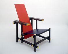 gerrit rietveld chaise rouge et bleue 1918 atc pinterest chaises rouges ligne. Black Bedroom Furniture Sets. Home Design Ideas