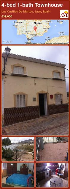 Townhouse for Sale in Las Casillas De Martos, Jaen, Spain with 4 bedrooms, 1 bathroom - A Spanish Life Murcia, Valencia, Portugal, Stunning View, Great View, Ground Floor, Really Cool Stuff, Townhouse, Terrace