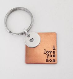 I love you... Mom, Dad, Grandma, Grandpa, etc. - keychain or necklace, hand stamped by Eight9 Designs by Eight9Designs on Etsy https://www.etsy.com/listing/191570229/i-love-you-mom-dad-grandma-grandpa-etc
