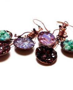 Copper Jewelry, Wire Jewelry, Gemstone Jewelry, Drop Earrings, Gemstones, Gems, Wire Wrapped Jewelry, Drop Earring, Jewels