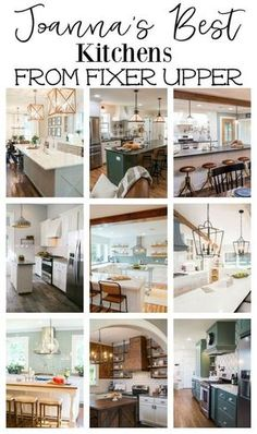 Need kitchen inspiration? Check out Joanna Gaines best kitchens from Fixer Upper. And see the products to help you create the same farmhouse look in your own home.