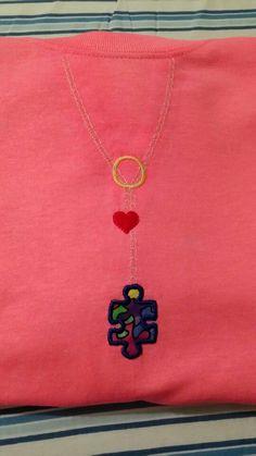 Autism awareness drop necklace!