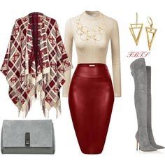 A fashion look from December 2017 featuring Escada Sport, Gianvito Rossi boots and Proenza Schouler clutches. Browse and shop related looks. Classy Outfits, Stylish Outfits, Beautiful Outfits, Fall Outfits, Girly Outfits, Fashion Mode, Fashion Outfits, Womens Fashion, Fashion Trends