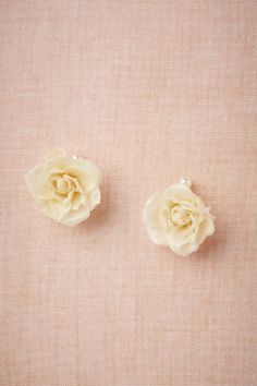 Bee's Devotion Earrings from BHLDN - wax coated real flowers!!