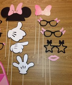 Minnie Mouse photo booth props Minnie Mouse por JCBelleCreations