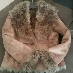 Luii faux suede and fur jacket Luii fur jacket super cute, pockets can be dressed up or down worn 2 times the most Luii Jackets & Coats