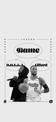 Portland Trailblazers Dame Lillard/Dame D.O.L.L.A Wallpaper. #DameTime #RipCity Damian Lillard, Lit Wallpaper, Portland Trailblazers