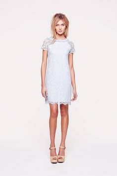 Resort 2014 - Collette Dinnigan Sparkle French Lace Raglan Sleeve Dress