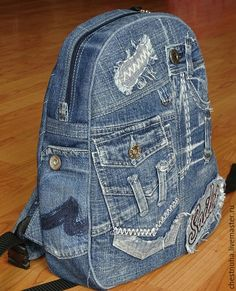 Love these Creative DIYs for Sewing & More! Denim Handbags, Quilted Handbags, Jean Purses, Purses And Bags, Mochila Jeans, Jean Backpack, Sewing Jeans, Backpack Pattern, Denim Ideas