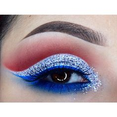 4th of july eye make up