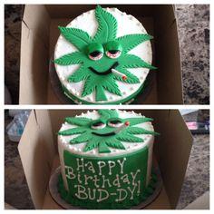 Haha! Something fun for a family member I made. #birthday #cake #potleaf #fondant