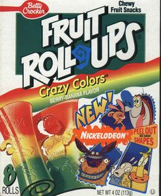 Nickelodeon Fruit Roll-Ups | 19 Cartoon-Themed Foods And Snacks From The '90s You Might Not Remember