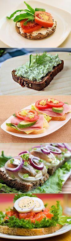 рецепты легких бутербродов закуски фото