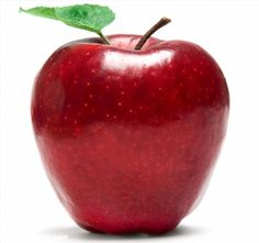 Fresh red apple on white background poster #poster, #printmeposter, #mousepad