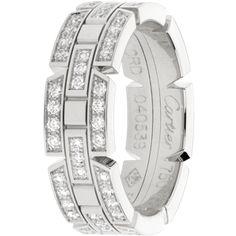 Cartier Men's Tank Francaise Wedding Band White Gold, set with diamonds. Cartier Men, Cartier Watches, Jewelry Watches, Cartier Wedding Bands, Wedding Ring Bands, Wedding Men, Wedding Ideas, Bride And Prejudice, Rings Online