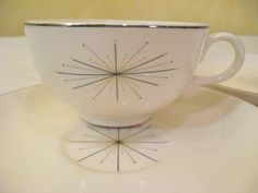 MidCentury Modern Star Teacup and Saucers Taylor by WoolTrousers, $7.00