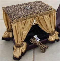Black Champagne Cabana Couture Pet Canopy Bed