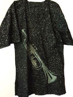 African trumpet print dashiki shirt