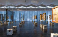 Museu de Arte de São Paulo (MASP) Exhibit Design, Lina Bo Bardi (1968) & METRO Arquitetos (2015), São Paulo, Brazil