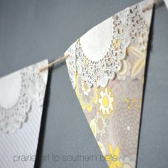 DIY Craft Project: Paper Banner with doilies