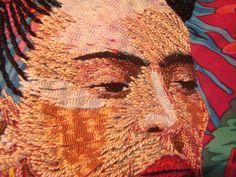 Frida - broderie fils et rubans