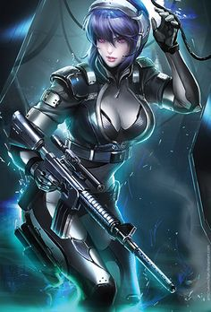 This is a 13*19 inches Poster Printed on Hi-res Gloss Cover Paper. It's durable. Subject : Ghost In Shell