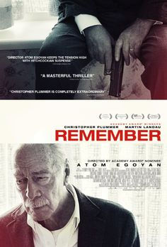 Remember (Canada | Germany / 2015) With the aid of a fellow Auschwitz survivor and a hand-written letter, an elderly man with dementia goes in search of the person responsible for the death of his family. This thriller was better than I expected and kept me increasingly on the edge of my seat. 3.5 stars