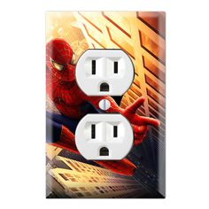 Spiderman Decorative Duplex Receptacle Outlet Wall Plate Cover SH05A