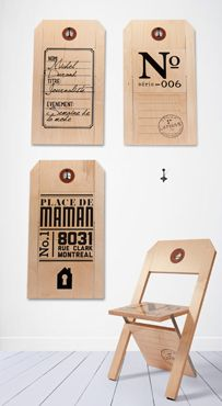 Label folding chairs.