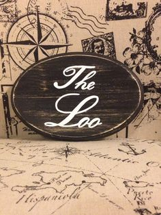 Adorable Bathroom Sign / The Loo (black) by CountryHomemakers on Etsy https://www.etsy.com/listing/233292313/adorable-bathroom-sign-the-loo-black