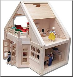 Side view of doll house