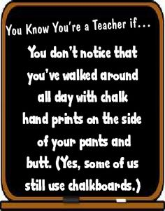 Food For Thought Fridays: You know youre a teacher if