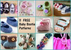 Crafty Stuff Hats and Photo Props... 11 of my favourite Free baby bootie patterns
