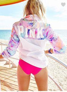 jacket pastel marbel pink by victorias secret victoria's secret windbreaker