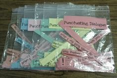 Punctuating Dialogue - This is a great, FREE activity from Teachers Pay Teachers. Modify for younger grades Grammar And Punctuation, Teaching Grammar, Teaching Language Arts, Grammar Lessons, Classroom Language, Writing Lessons, Teaching Writing, Writing Activities, Teaching English