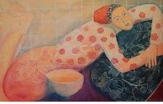 reclining woman by cate edwards, via Flickr