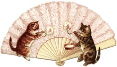 This Victorian clip art piece features two adorable kittens playing with bubbles. Description from olddesignshop.com. I searched for this on bing.com/images